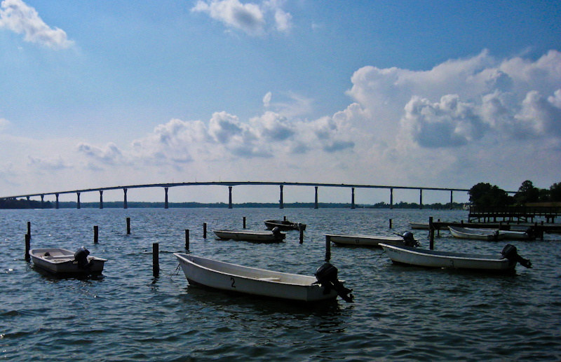 IMG_1508_LR_800.jpg - A view of the bridge over the Patuxent River from Solomons Island, MD.